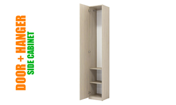 Side Wall Bed Unit With Door