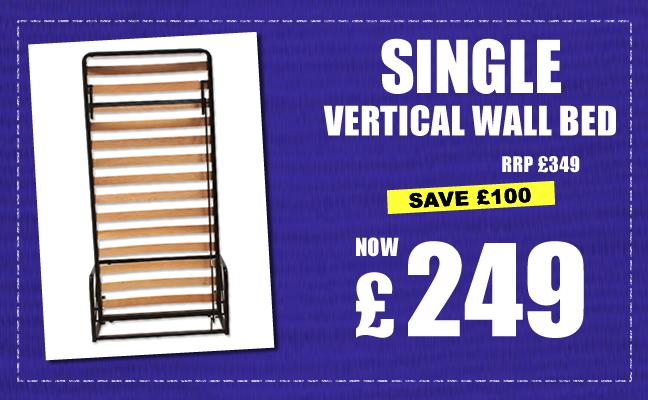 Single Vertical Wall Bed Offer