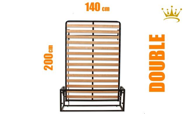 European Double Vertical Wall Bed Mechanism