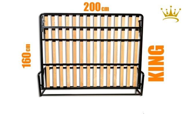 European King Horizontal Wall Bed Mechanism