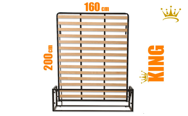 European King Vertical Wall Bed Mechanism