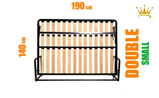 European Small Double Horizontal Wall Bed Mechanism