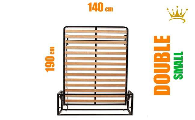 European Small Double Vertical Wall Bed Mechanism