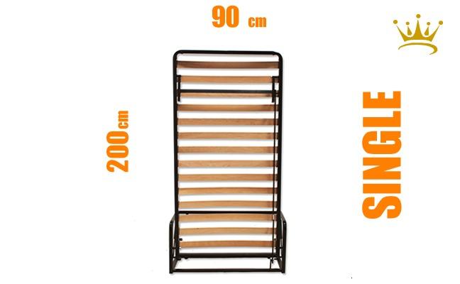 European Single Vertical Wall Bed Mechanism