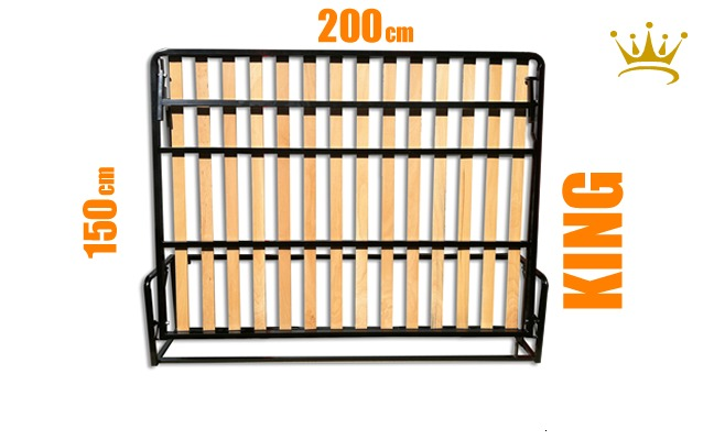 King Horizontal Wall Bed Mechanism