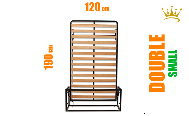 Small Double Vertical Wall Bed Mechanism
