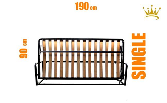 Single Horizontal Wall Bed Mechanism