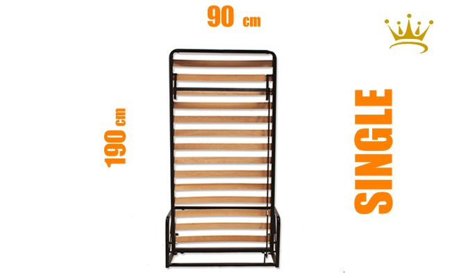 Single Vertical Wall Bed Mechanism