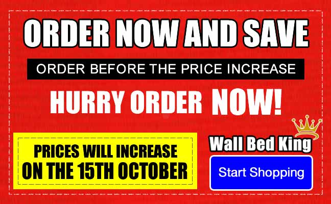 Order now and save, order before the price increase, prices will increase on the 15th of October