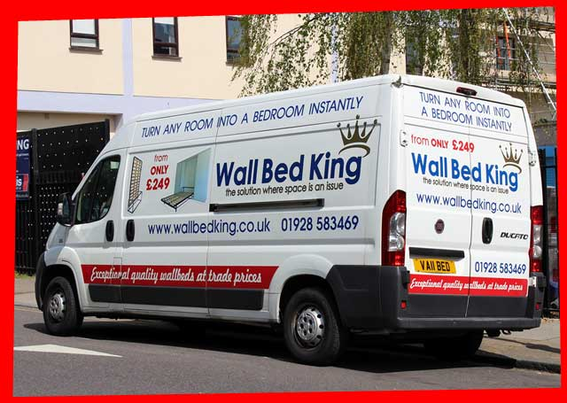 One of the Wall Bed King delivery vans